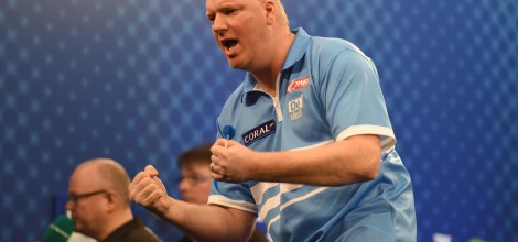 Vincent van der Voort v James Wilson Coral UK Open 2017 Butlins Minehead Arena Pic: Christopher Dean / Scantech Media Ltd 07930 364436 chris@scantechmedia.com www.scantechmedia.com